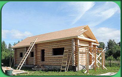 фото строительства дома сруба 114 м2