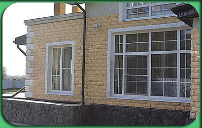 фото строительства дома 206 м2, с мансардой и эркером, под ключ