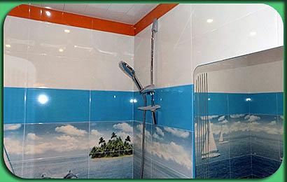 укладка декоративной плитки в ванной