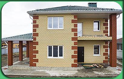 Строительство двухэтажного кирпичного дом 160 м2