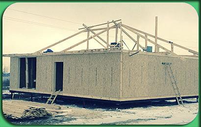 фото строительства дома СИП 107 м2, с мансардой и цоколем, под ключ