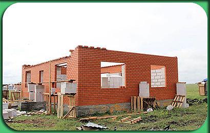 фото строительства одноэтажного дома 102 м2