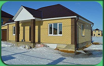 Строительство одноэтажного дома 122 м2 с гаражом