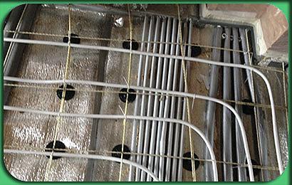 полусухая стяжка коттеджа в Бессоновке 2