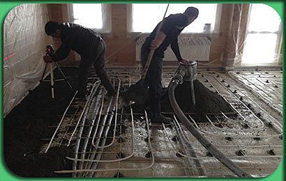 полусухая стяжка коттеджа в Бессоновке 4