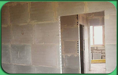 фото возведения стен и перегородок