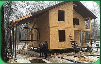 фото строительства СИП-дома 124 м2